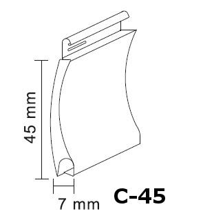 fabricante lama de aluminio c-45
